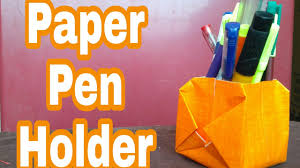 how to make a paper pen holder hma 032 youtube
