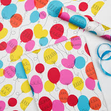 wrapping paper sheets party balloon wrapping paper 5 sheets rex london dotcomgiftshop