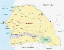 Dakar Senegal Map Senegal Road Map Royalty Free Cliparts Vectors And Stock