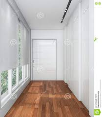 White Laminate Wood Flooring 3d Rendering White Walk In Closet With Laminate Wood Floor Stock