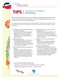 reading tip sheets for educators colorín colorado