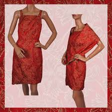 christmas cocktails vintage vintage 60s dress red u0026 gold brocade w shoulder wrap ladies size s