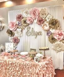 bridal shower table decorations bridal shower table decorations paper flower backdrop wonderful