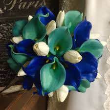 wedding flowers royal blue shop aqua blue wedding bouquets on wanelo