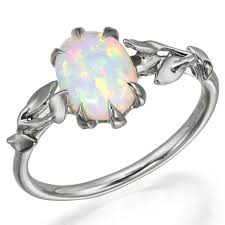 wedding rings opal images Opal ring platinum 14 doron merav jpg