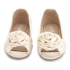 wedding shoes flats ivory image detail for wedding shoes ivory peep toe ballet flats