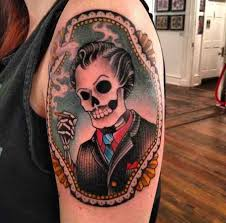 vincent price homage by dean denney at anonymous tattoo in