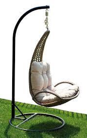 cuscini per sedia a dondolo poltrona sospesa dondolo sdraio cuscino tortora rattan sintetico