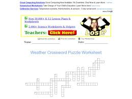 weather crossword puzzle worksheet free worksheets library