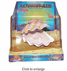 clam air aquarium ornament by penn plax