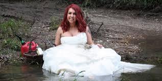 wedding dress daily woman sets wedding dress on to celebrate divorce