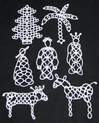 advanced embroidery designs tatting ornament set