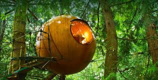 free spirit spheres suspended spherical treehouses available