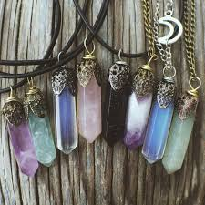 crystal stone pendant necklace images Crystal necklace natural stone pendant customizable christmas jpg