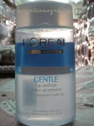 l 39 oreal gentle lip and eye make up remover for waterproof make up review