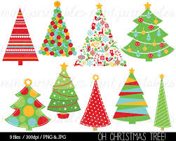 red and green christmas tree clipart clipartxtras