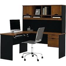 Ikea L Shaped Desk Desk Bestar Innova Corner Computer Desk Tuscany Brown Black
