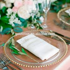 cheap plates for wedding cheap bulk hotel wholesale wedding gold silver clear steak glass