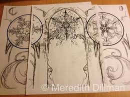 snowflake composition background sketch by meredithdillman on