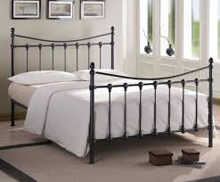 drayton small double 4ft black metal bed
