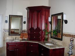 charming corner bathroom vanity cabinet on bathroom with corner