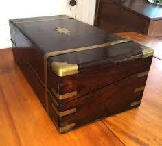 Vermont travel desk images Antique writing desk sea captain 39 s folding lap 1800 39 s rosewood jpg