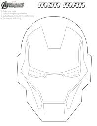 iron man free coloring mask printables free printable halloween