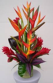 tropical flower arrangements tropical flower arrangements rustic wood vases with opal bird of