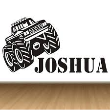 Personalised Home Decor Aliexpress Com Buy Monster Truck Personalised Any Name Kids