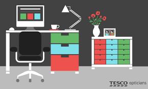 Small Computer Desk Tesco How To Reduce Computer Eye Strain Symptoms At Work Tesco