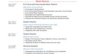 Music Teacher Resume Examples by Pre K Teacher Resume Sample Reentrycorps