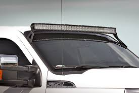 50in Curved Led Light Bar Upper Windshield Mounting Brackets For 99
