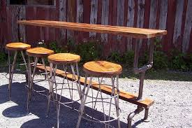 metal bar height table buy a hand made industrial styled bar height table with a metal pipe
