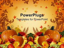 halloween autumn background powerpoint template autumn background with happy halloween sign
