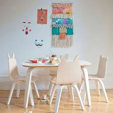 kids furniture table and chairs modern kids rabbit play chair oeuf canada