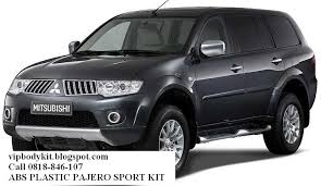 All New Pajero Sport List Kap Mobil Depan Molding Chrome brand new 2011 model for pajero sport kit macam2 bodykit carbon