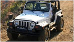 old white jeep wrangler jeep bushwacker