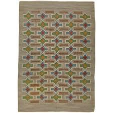 vintage swedish flat weave rug by judith johansson for sale at 1stdibs