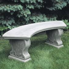 Curved Outdoor Benches Cast Stone U0026 Concrete Outdoor Benches You U0027ll Love Wayfair