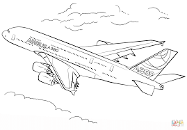 airbus a380 coloring page free printable coloring pages