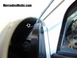 mercedes c class wing mirror how to remove replace side view mirror glass mercedes mb medic