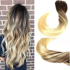 ombre clip in hair extensions clip in hair extensions human hair dip dyed ombre brown to