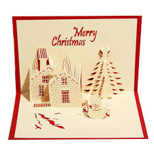 christmas castle holiday design christmas cards creative kirigami