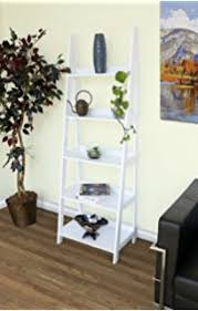 Book Or Magazine Ladder Shelf by Amazon Com C U0026ahome Wood Plastic Composites Leaning Ladder Style