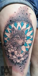 wolf flower mandala tattoo by artmakia on deviantart