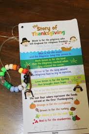 just reed the story of thanksgiving bracelet science social