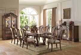 66170 acme pedestal dining set valleta collection in latte oak