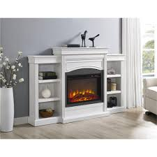 ameriwood furniture lamont mantel fireplace white