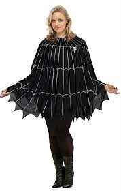 lydia deetz costume spider web poncho plus size costume plus size clothing