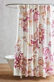 Pink Flower Shower Curtain Rasberry Floral Shower Curtain